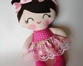 Handmade cloth doll,Girl gift,Ragdoll,Cloth doll,Fabric doll...Eco-Friendly Doll... sweet ragdoll....READY TO SHIP.