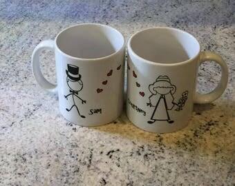 Personalized Wedding Mug Sending Love