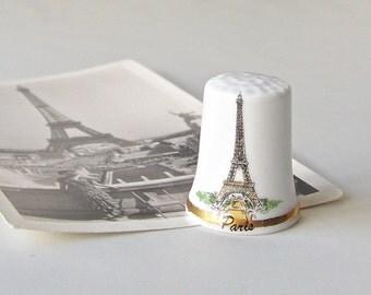 Vintage Thimble Eiffel Tower Paris France Thimble Collector Souvenir Paris Sewing Room Collectable 1980s