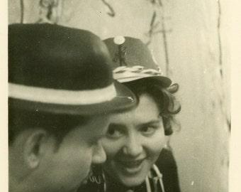 "Vintage Photo ""Celebration Chatter"" Snapshot Antique Photo Old Black & White Photograph Found Paper Ephemera Vernacular - 103"