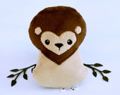 Lion Plushie. Jungle Cat Plush, Cute Lion Soft Toy, Designer Plush, Brave Lion, Stuffed Animal, King of the Jungle, Leo Softie, Lion Doll
