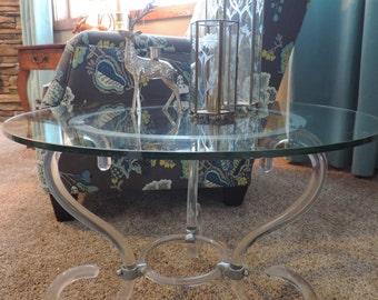 lucite table base 70u0027s mod furniture modern side table coffee table side table funky table low - Lucite Table