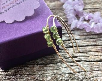Peridot Earrings, Peridot Jewelry, Green Gemstone Earrings, August Birthstone Earrings, Birthstone Gift, Birthstone Jewelry