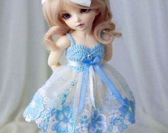 Light blue dress for TINY bjd LittleFee Momocolor29/Momotree29, Saintbloom