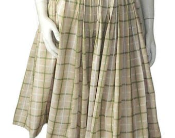 Vintage 1950s Cotton Summer Dress