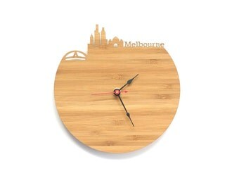 Melbourne Modern Clock - City Skyline Wall Clock - Australia