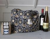 Reusable Shopping Bag, Reusable Grocery Bag, Shopping Tote Bag, Eco Friendly Bag, Cotton Shopping Bag, Market Bag, Gray Gold Metallic, goth