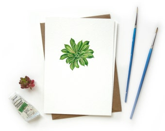 Succulent 2 Original Watercolor Illustration | Crazy Succulent Lady Mini Cactus Artwork