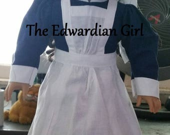 Two of a kind Florence Nightingale nurse doll dress. Fits 18 inch play dolls such as American Girl, Springfield. Limited edition made in USA