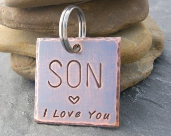 SON GRADUATION GIFT, Son Birthday Gift, Son In Law Gift, Gift for Son on Wedding Day, College Student Gift, Son Keychain, Son Baptism Gift