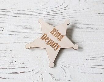 Ring Deputy Badge Ring Bearer Badge