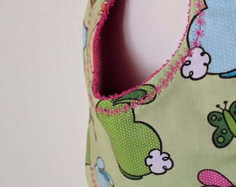 Easter Bunny Simple Little Bib - Drool Catcher - Teething Bib