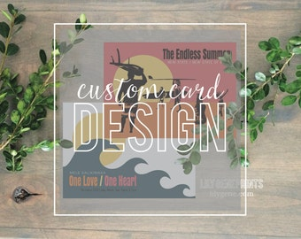 Custom Special Occasion Cards 4x5.5 {Holidays, Announcements, Celebrations, Save The Date, Invitations, etc}