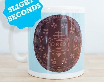 SECONDS - Oreo Cookie Mug Large Design - Biscuit Mug - Biscuit Gift
