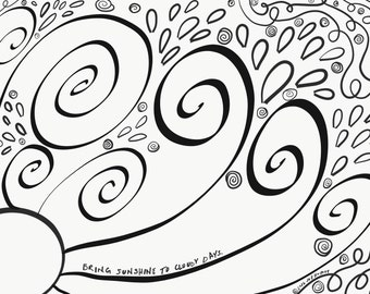 Bring sunshine on cloudy days Coloring Page