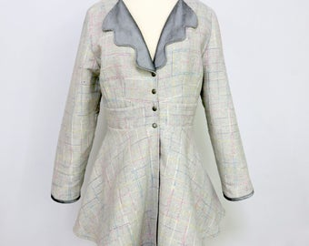 Gray Jacket - Reversible - Silver Jacket - Plaid