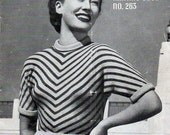 1940s Vintage Knitting Patterns for Women Sweaters and Twin Set Patons and Baldwins Book No. 263 Original Knitting Booklet