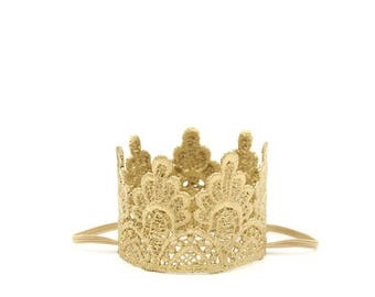 ultra MINI gold lace crown for small dog or pet || photography prop