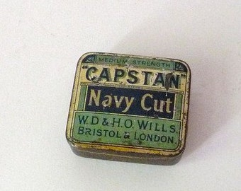 Vintage British Capstan Tobacco Tin