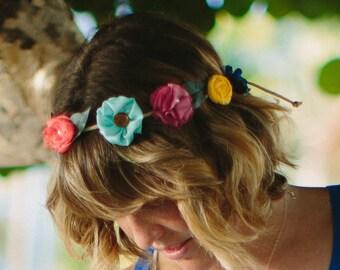 Flower Crown | Boho Headband | Wedding Flower Crown | Festival Crown | Hair Accessories | Bridesmaid Hairpiece | Flower Girl Gift | Keepsake
