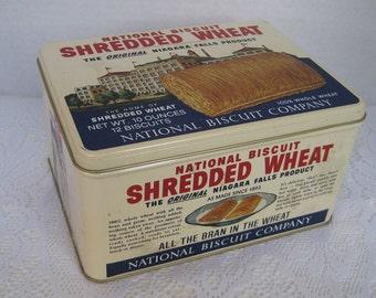 Nabisco Shredded Wheat Tin, 1987, Special Edition Tin