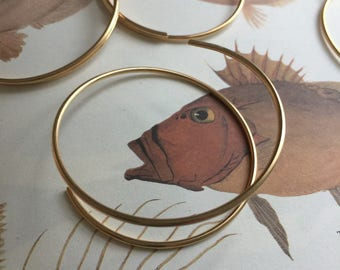 Gold Plated Hoop for Crafting Beading Bangle (2 pc)