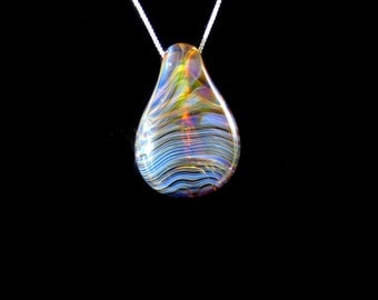 Lampworked Spiral  Pendant, pendant focal bead necklace,Spiral Focal bead, Spiral glass pendant , Glass Spiral pendant, Glass pendant
