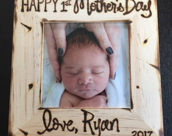 1st Mother's Day personalized frame for New Moms & Future Moms!