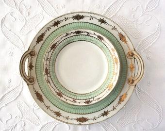 Vintage cake plate, Nippon, small dessert plates, vintage tea time china