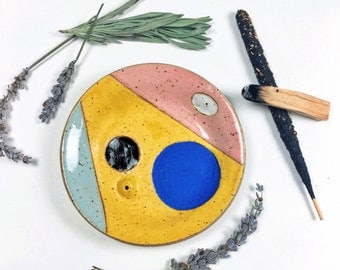 Bright Incense Holder Ceramic Catchall Dishes