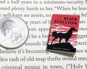 Miniature Book / Black Stallion by Walter Farley / Tiny Book with real blank pages / 1:6 scale book / playscale / one sixth scale for Barbie