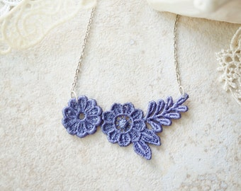 Lace Necklace in Purple