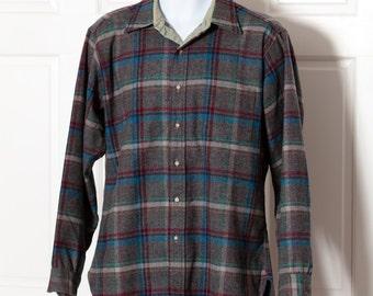 Vintage Men's wool Button Down - PENDLETON - L