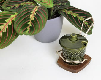 Lord Nelson Pottery Wyncraft Green Mint Sauce Pot and Stand