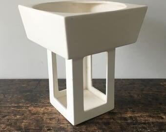 Vintage 1962 Inarco E-862/W White Ceramic Planter Made in  Cleveland, Ohio
