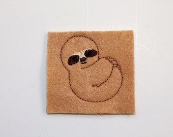 Sloth feltie, Full body sloth felt stitchies, Camel tan Sloth felties, Sloth felt, 4 pcs for hair accessories, scrapbooking, or crafts