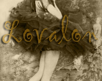 Sultry Ballerina... Instant Digital Download... 1920's Vintage Erotic Fashion Photo Image by Lovalon