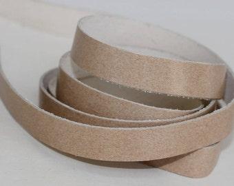 7-10mm Light Tan  Genuine Leather Strap, 1 Yard