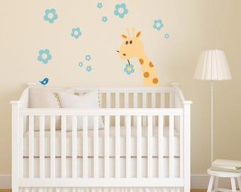 Crib Giraffe Nursery Vinyl Wall Decal | Giraffe Nursery Decor | Nursery Giraffe