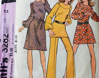 McCalls 3282 Misses' Dress or Tunic and Pants