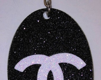 Chanel Inspired Key Chain, Chanel Inspired Accessories, Chanel Inspired Bling Key Chain, Chanel Inspired Car Accessories