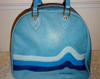 Vintage Bowling Ball Bag Ranger Bowling Bag Blue