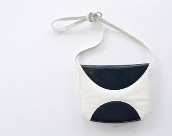 Simard & Voyer vintage retro white and blue bag