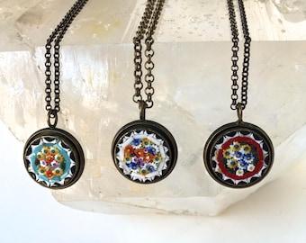 Vintage- Italian Mosaic Necklace-Handmade