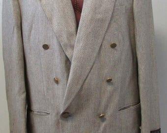 Vintage Alfredo Rodina Made in Italy Bilo's Sport jacket Coat Blazer Size XL (44) Silk/Wool 1970s