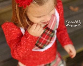 Back to School Barrette, Red Flower Barrette, Christmas Barrette, Red Flower Girl Barrette, Red Toddler Barrette, Toddler Hair Clip