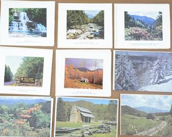 11 Piece Lot Vintage Smoky Mountain Blank Greeting Cards