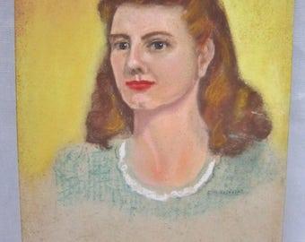 Vintage Pastel Portrait