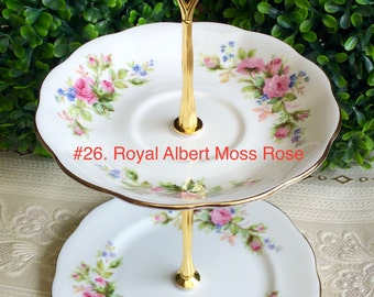Royal Albert Moss Rose 2 tier Tea Stand