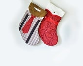 Mr. & Mrs. Retro Couple Secret Note  Christmas Stockings Family Four Pack for Carly